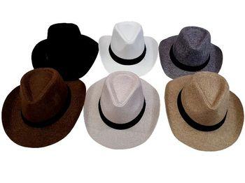 "Шляпа тканевая ""унисекс"" D34.5cm одноцветная"