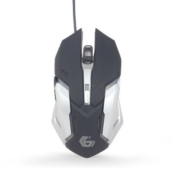 Gembird MUSG-07, Gaming Optical Mouse, 3200 pi programmable gaming mouse, 6 buttons, 7-color breathing RGB light effect, USB