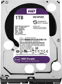 "3.5"" HDD 1.0TB  Western Digital WD10PURZ Caviar® Purple™, IntelliPower, 64MB, SATAIII"