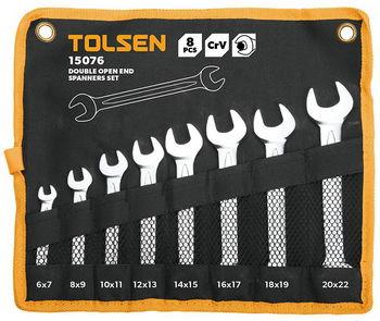 купить Набор ключей рожковых - 8шт в чехле (6-22мм) TOLSEN в Кишинёве
