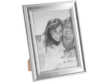 """Rama foto """"tip lemn"""" 13Х18cm, plastic, argintie"""