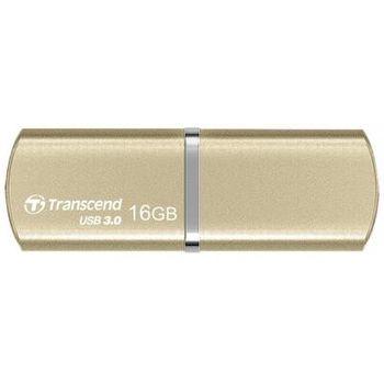 16GB USB3.0 Transcend JetFlash 820 Gold, Durable metallic texture and aluminum body, Lanyard / key ring attachment loop, (Read 90 MByte/s, Write 25 MByte/s)