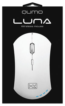 Wireless Mouse Qumo Luna, White