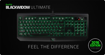 cumpără RAZER BlackWidow Ultimate 2016 / Mechanical Gaming Keyboard, Mechanical keys (Razer® Green switch), Individually backlit keys with Dynamic lighting effects, Fully programmable keys with on-the-fly macro, Audio-out/mic-in jacks, Braided cable, USB în Chișinău
