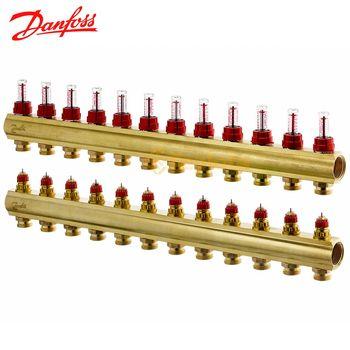 купить Коллектор распределительный DANFOSS FHF-12+12 с ротаметрами в Кишинёве