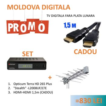 cumpără PROMO SET TV DIGITALA T2 (MOLDOVA) în Chișinău