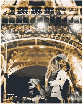 Картина по номерам 40x50 Поцелуй у Эйфелевой башни VA1531