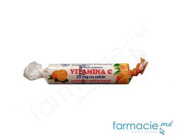 купить Acid ascorbic cu zahar 0.025  N10 (portocala)(TVA20%) в Кишинёве