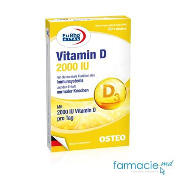 купить Vitamina D3 2000 UI comp. N60 EuRho Vital в Кишинёве