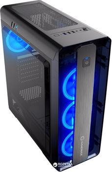 купить Case ATX GAMEMAX MoonLight, w/o PSU, 4x120mm,Blue LED(Ring-type) fans, Fan controller, USB3.0, Black в Кишинёве