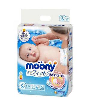 купить Подгузники Moony S (4-8 kg) 84 шт в Кишинёве
