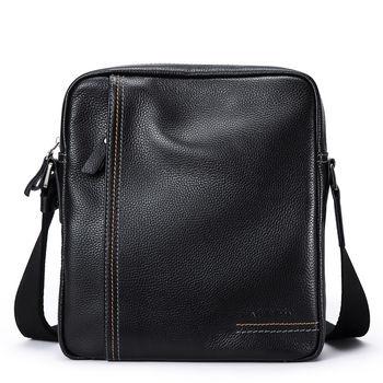 купить Кожаная сумка через плечо HAUTTON black в Кишинёве