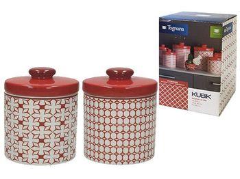 Recipient din ceramica Kubik Rosso 600ml