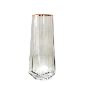 Декоративная ваза, Стекло, 30см, Серая DS4346