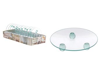 Sfesnic-farfurie pentru luminari D12cm, sticla