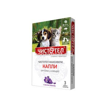 купить Чистотел капли от блох и клещей для щенков и котят в Кишинёве