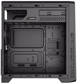 купить Case ATX GAMEMAX G561, w/o PSU, 3x120mm, Blue LED, Transparent panel, USB3.0, Black в Кишинёве