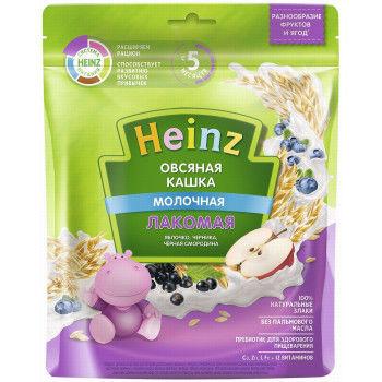 купить Heinz Лакомая каша овсяная молочная яблоко, черника, черная смородина, 5+мес. 170 г в Кишинёве