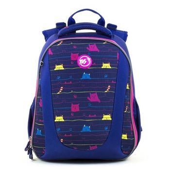 """Школьный рюкзак """"Cats"""" Yes I синий"""