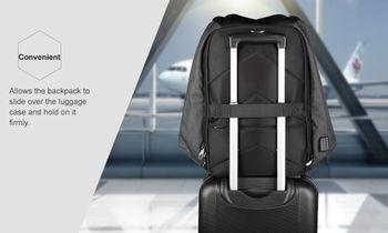 купить Рюкзак Tigernu T-B3599 с USB-портом и отделением для ноутбука 15.6, красный в Кишинёве