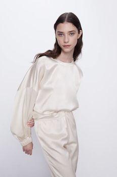 Блуза ZARA Бежевый 0881/016/307