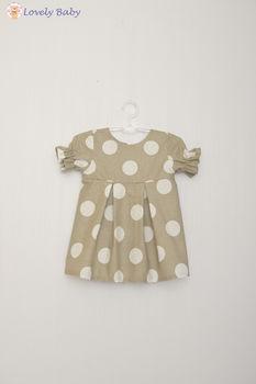Платье R04 серое в горошек