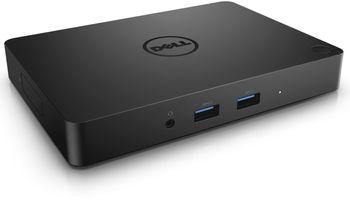 Dell USB Type-C Dock WD15 with 130W Adapter - 1*HDMI, 1*miniDP, 1*VGA, 1*RJ-45, 2*USB 2.0, 3*USB 3.0