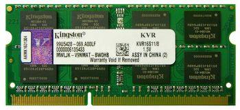 4Gb DDR3-1600 SODIMM  Kingston ValueRam, PC12800, CL11