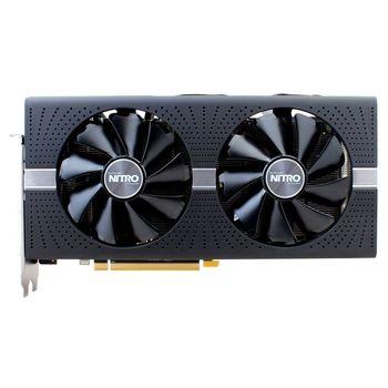 Sapphire NITRO+ Radeon RX 580 4GB DDR5 256Bit 1411/7000Mhz, DVI, 2x HDMI, 2x DisplayPort, Dual-X fans (Two ball bearing), Intelligent Fan Control (IFC-III), NITRO Glow 2, Lite Retail