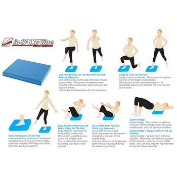 Мат для йоги 48х40х6.2 см inSPORTline 6453 (3056)