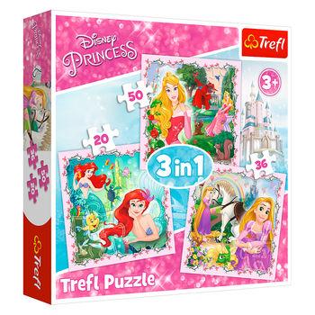 """Пазлы """"3 в 1""""-""""Rapunzel, Aurora and Ariel / Disney Princess"""", код 42201"""