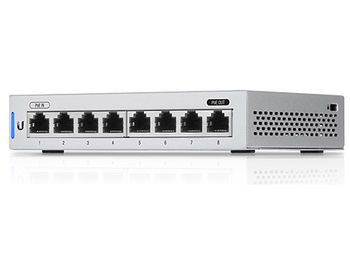 Ubiquiti UniFi Switch 8-ports (US-8), 8x10/100/1000 Mbps RJ45 Ports, 1xPoE Passthrough Port, Non-Blocking Throughput: 8 Gbps, Switching Capacity: 16 Gbps, (retelistica switch/сетевой коммутатор)