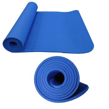 Коврик для йоги с люверсами 183x61x0.8 см TPE DeG black (712)