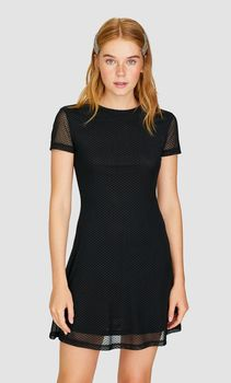 Платье Stradivarius Чёрный 6372/657/001