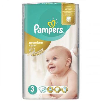 купить Pampers подгузники Premium Care 3, 4-9кг. 60шт в Кишинёве