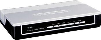 TP-LINK TD-8811, 1 ethernet port and 1 USB port ADSL2+ router with bridge and NAT router, Broadcom chipset, ADSL/ADSL2/ADSL2+, Annex A, with ADSL spliter