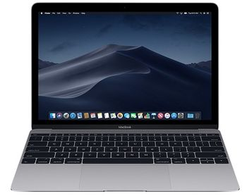"APPLE MacBook (Mid 2017) Space Gray, 12.0"" Retina IPS (Intel® Dual Core™ i5 1.3-3.2GHz (Kaby Lake), 8GB DDR3 RAM, 512Gb SSD, Intel HD Graphics 615, WiFi-AC/BT4.2, 10 hours, Force Touch Trackpad, 480p Camera, Backlit KB, RUS, macOS HighSierra, 0.92kg)"