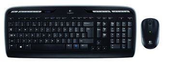 Keyboard & Mouse Logitech Wireless Desktop MK330, Multimedia, USB, Retail