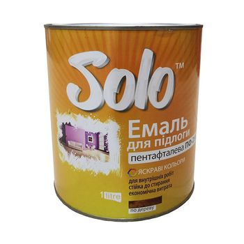 Solo Эмаль ПФ-266 Красно-коричневая 0.9кг