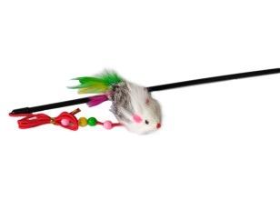 купить Прут с мышью с перьями, R1006-12 в Кишинёве