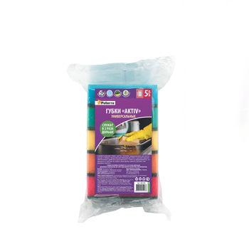 купить Губка для уборки PATERRA с поверхностью AKTIV, 5 шт. в Кишинёве