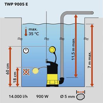 купить Погружной дренажный поддон насоса TWP 9005 E в Кишинёве