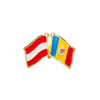 купить Значок - Флаг Австрия & Молдова в Кишинёве
