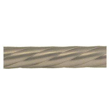 Delfa Труба карнизная рифленая хром матовая 2,4м