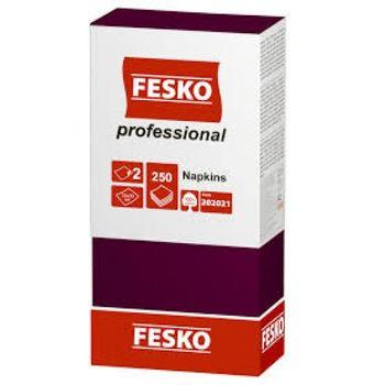 Салфетки сервировочные Fesko Professional, 2 слоя,  250 листов, (бордо).