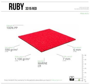 купить Ландшафтная трава RUBY 3315 RED, ширина рулона-2м в Кишинёве