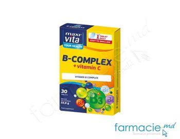 купить Vitamina B complex+Vit.C 120mg tab.N30(reduce oboseala) (1tab/zi) MaxiVita в Кишинёве