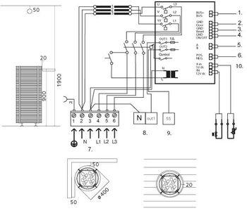Электропечь для сауны - Tulikivi NAAVA