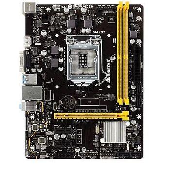 Biostar H310MHC, Socket 1151, Intel® H310 (8th Gen CPU), Dual 2xDDR4-2666, CPU Intel graphics, VGA, HDMI, 1xPCIe X16, 4xSATA3, 2xPCIe X1, HDA, GbE LAN, 4xUSB3.1, mATX