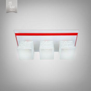 купить N&B Light Люстра Пиастра 10133-2 белый глянец/красный глянец в Кишинёве